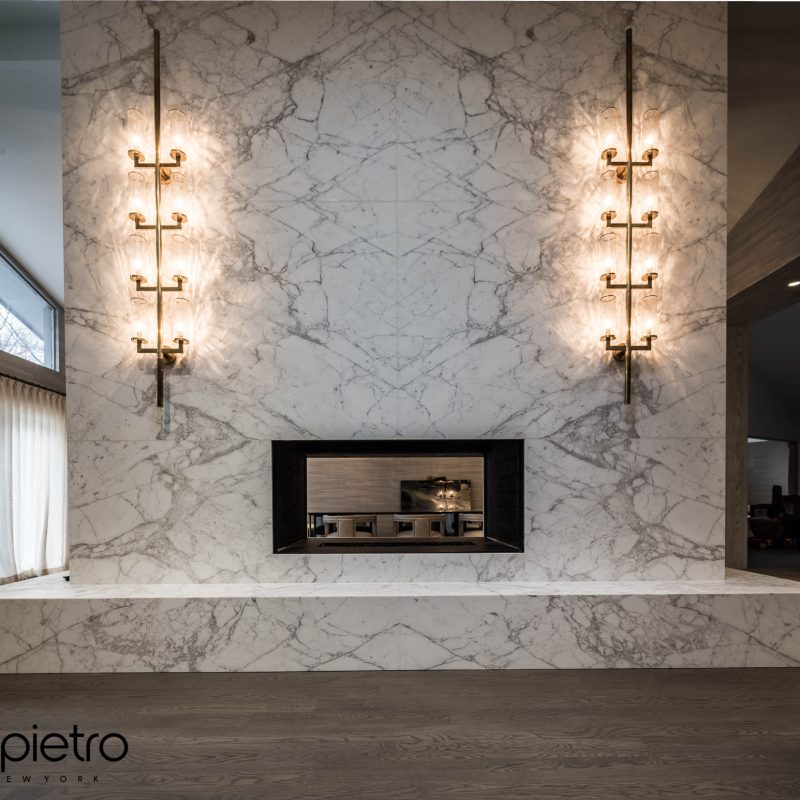 Massive Calacatta Fireplace